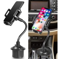 Fysho Cell Phone Holder for Car Cup Holder Phone Mount Universal Adjustable Gooseneck Cup Holder Cradle Car Mount for Cell Phone iPhone Xs/SX Max/X/8/7 Plus/Galaxy