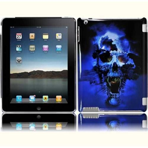 Insten For Ipad 3 Ipad HD Design Phone Hard Case Blue Skull