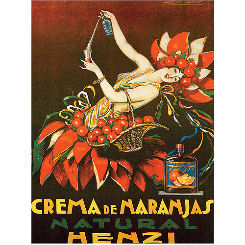 "Trademark Fine Art ""Crema de Naranjas Natural Henzi"" Canvas Art by Achille Mauzan"