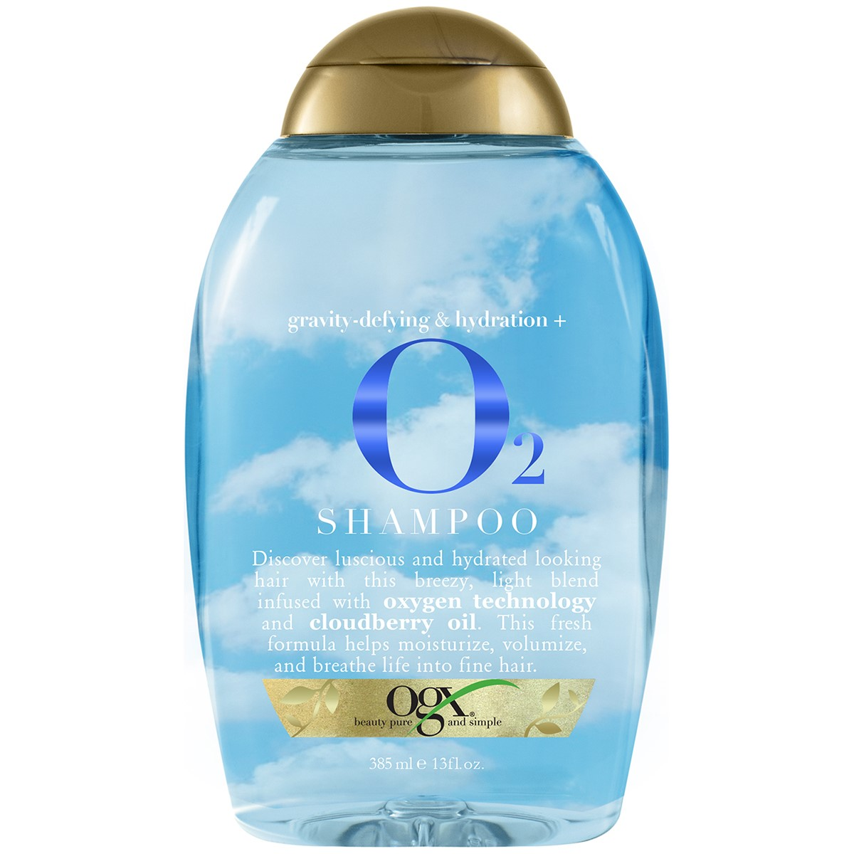 OGX Anti-Gravity + Hydration O2 Shampoo, 13 Oz