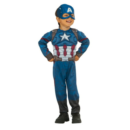10 Year Old Costumes (Rubies Captain America Toddler Halloween)