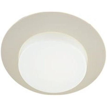 Drop Opal Lens - 6 in. Recessed Vapor Trim with Lexan Drop Opal Plastic Lens, 8 x 5 in.