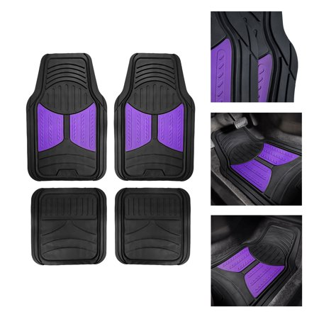FH Group Heavy Duty Rubber Trim to Fit Monster Eye Floor Mats-4 Pieces, Purple