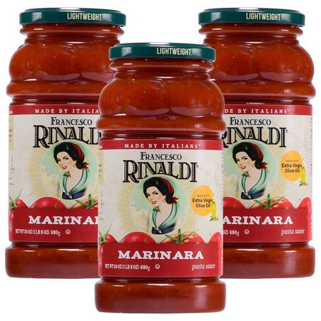 (3 Pack) Francesco Rinaldi Traditional Marinara Sauce, 24 (Smooth Marinara Sauce)