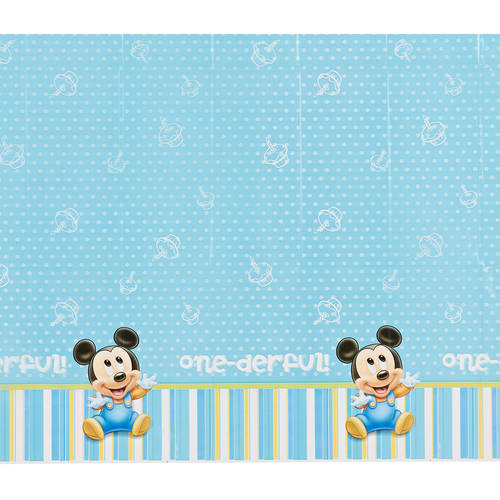 "Mickey Mouse Plastic Table Cover 54"" x 96"""