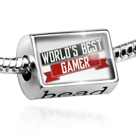 Bead Worlds Best Gamer Charm Fits All European (Best Cod Gamer In The World)