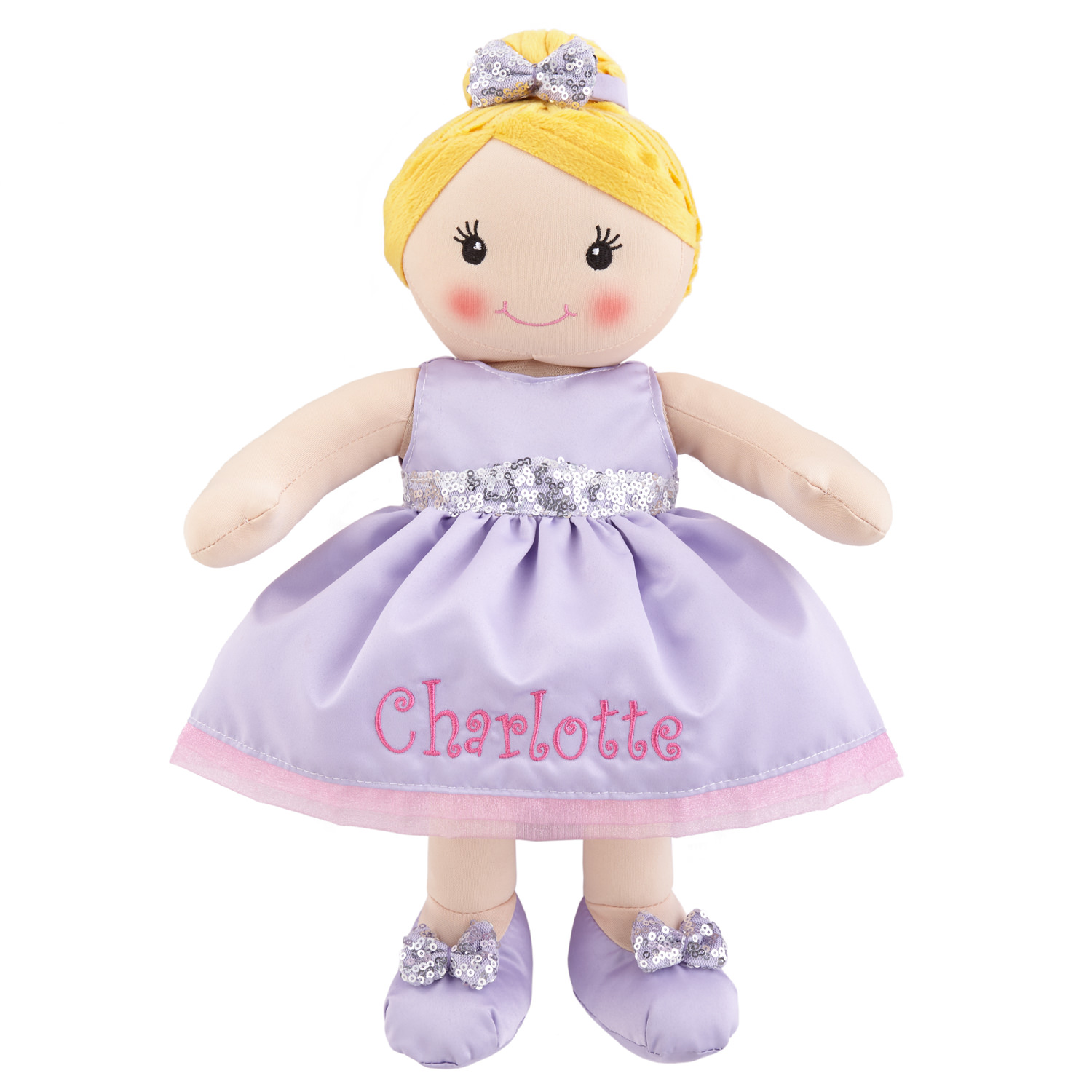 Personalized All Dressed Up™ Ballerina Rag Doll – Available in 3 Options