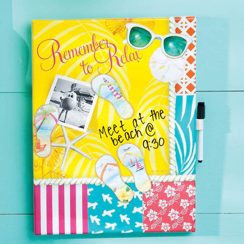 Cape Craftsmen Dry Erase Memo Board with Magnets Calypso Summer