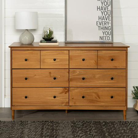 Manor Park Mid-Century Modern 6-Drawer Solid Wood Dresser - Caramel