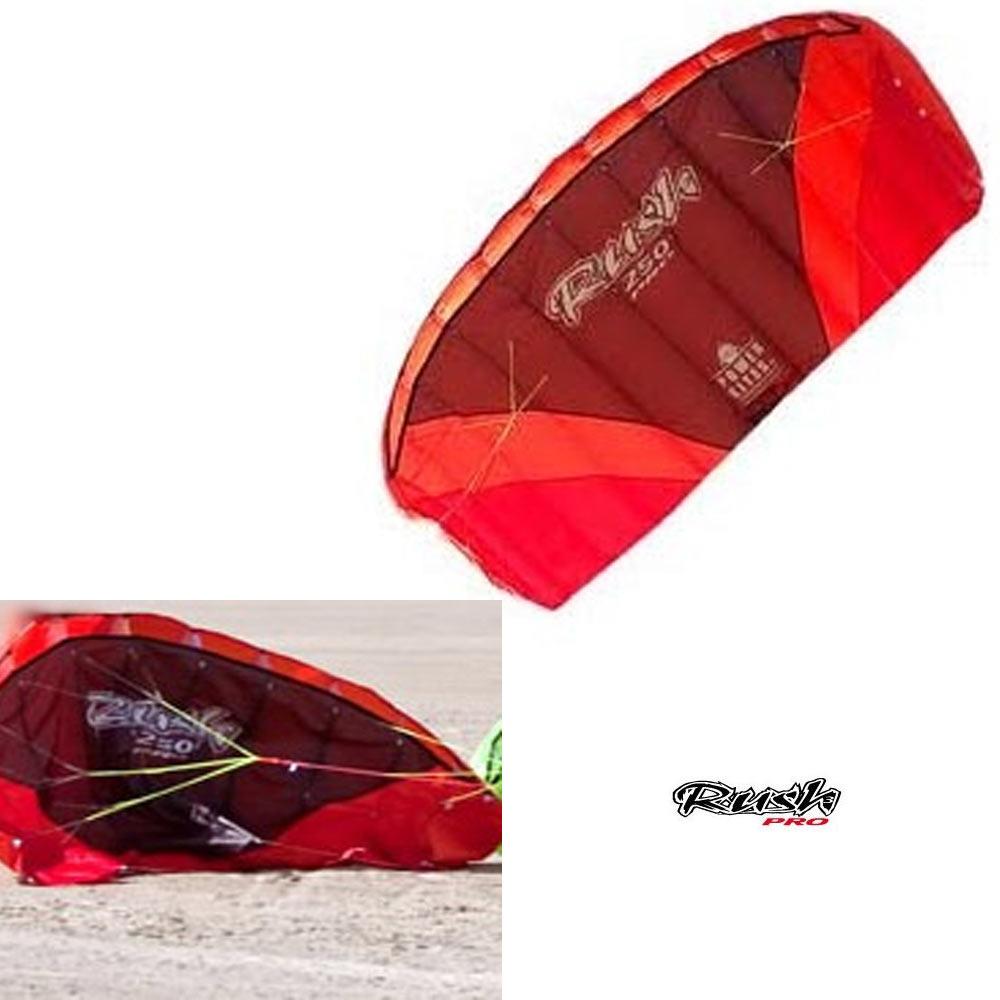 HQ POWERKITES Rush R2F 250 IV Pro Trainer Kite Power Kiteboarding Bar Safety New by HQ Powerkites