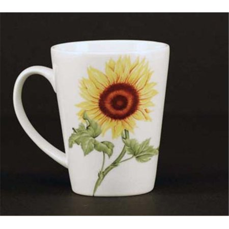 Chinese Aubusson China (Euland China FL1-008S Set Of Two 12-Ounce Mugs - Sunflower)