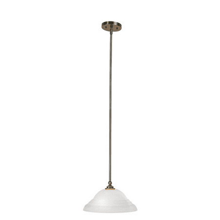 Pendants Porch 1 Light With White Alabaster Glass Antique Brass Finish size 13 in 100 Watts - World of