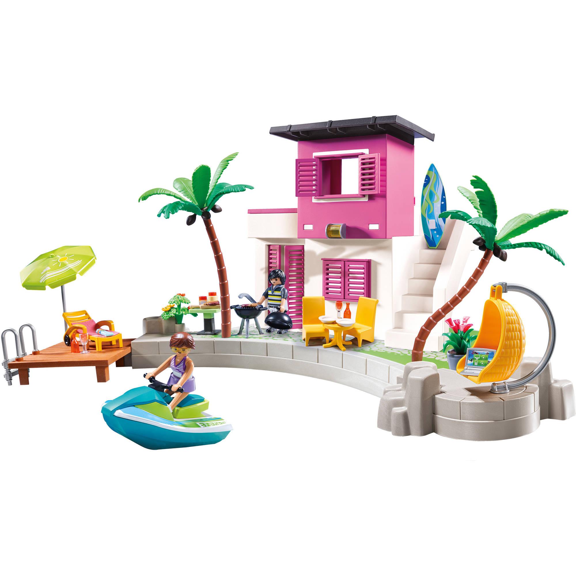 PLAYMOBIL Luxury Beach House - Walmart.com