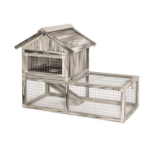 Midwest Homes For Pets Hoppity  Habitat Composite Plastic/Wood Rabbit Hutch