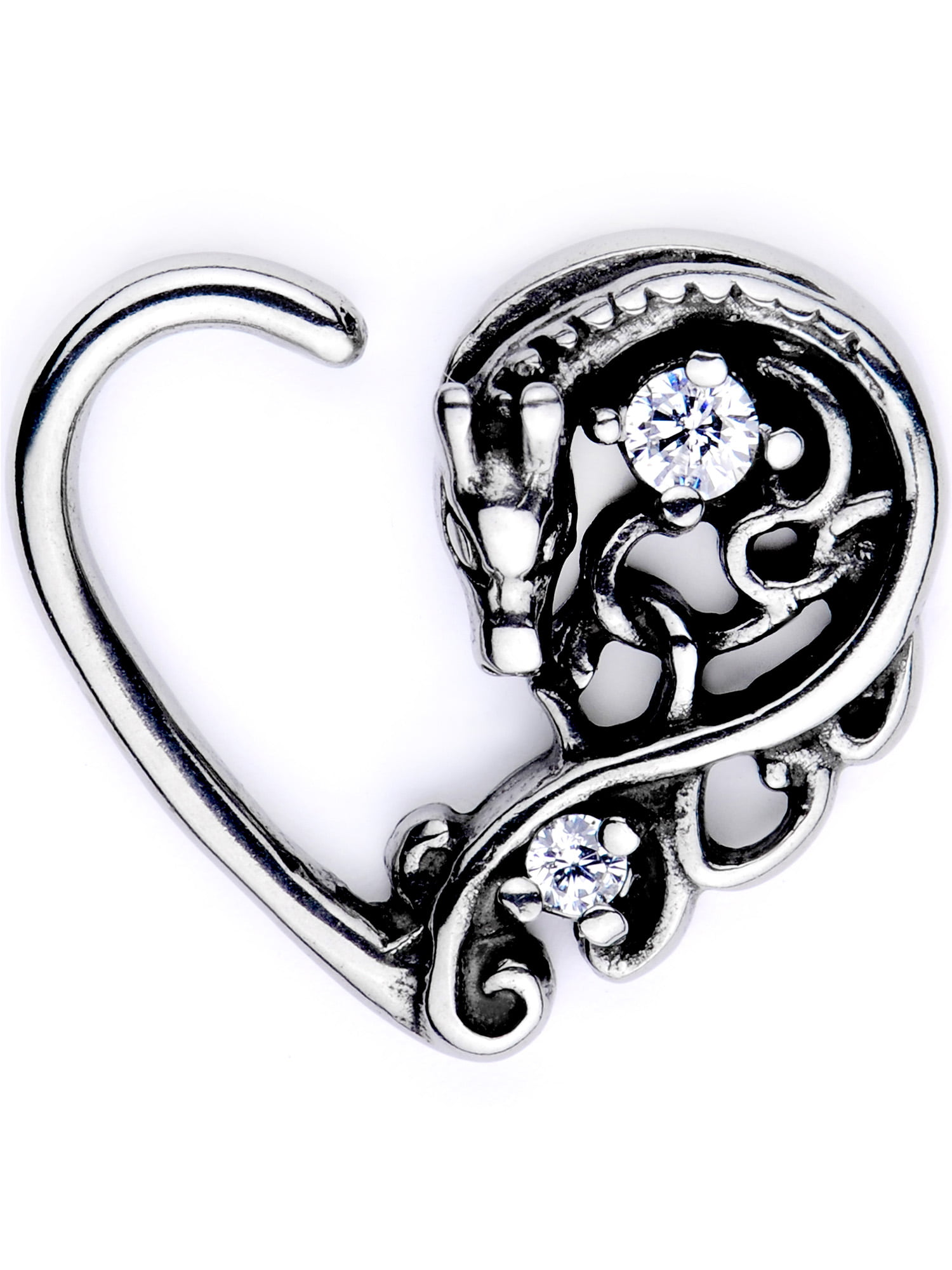 Sweet Heart Cartilage Tragus Earring 316L Surgical Steel