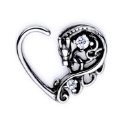 Body Candy Body Piercing Jewelry Stainless Steel 16G Left Closure Daith Cartilage Dragon Heart Tragus Earring