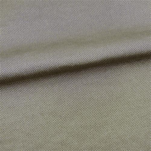 Metallic Beige Satin Tricot, Fabric By the Yard