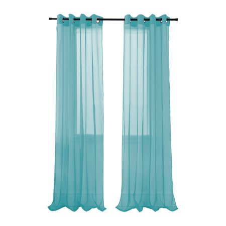RT Designers Collection Cara Sheer Grommet Curtain Panel