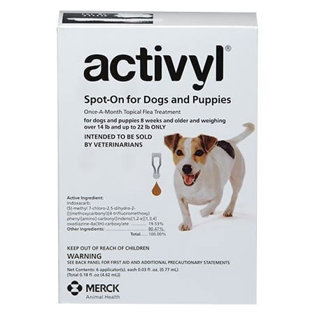 Dog 12 Month Supply (Activyl for Dogs - 6 Month Supply (14-22 lbs))