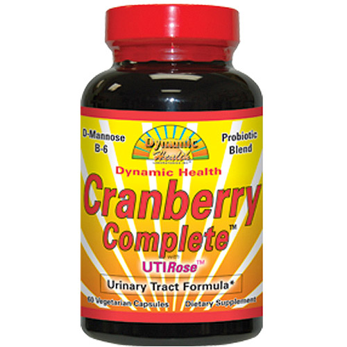 Dynamic Health Labs Cranberry Complete with Uti Rose-Urinary Tract Formula Capsules, 60 Count