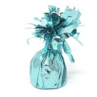 Foil Balloon Weight Party Decorations, 4-1/2-Inch, Turquoise