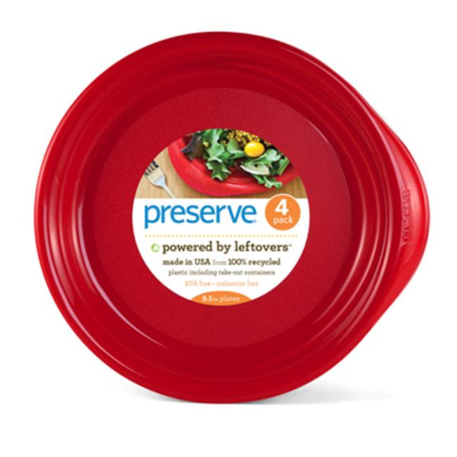 Preserve Everyday Plates - Pepper Red -9.5 in 4 CT -Single Pack - image 1 of 1