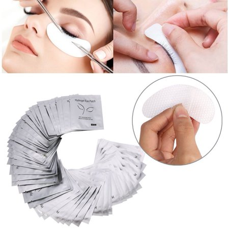 Anauto 100Pairs Under Eye Pads For Eyelash Extension, Lint Free Lash Extension Eye Gel Patches, Eye Mask Beauty