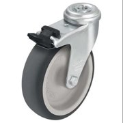 Value Brand Kingpin Swivel Caster,Thrm Rubber,2 in,110 lb,Znc, LRA-TPA 50G-FI