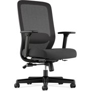 Basyx by HON VL721 Executive High-Back Black Office Chair, Mesh Back, Fabric Seat