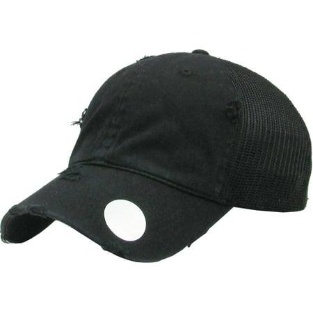MESH VINTAGE BLACK BASEBALL CAP