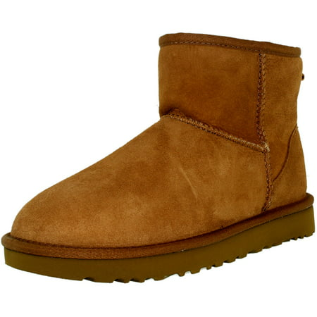 Ugg Women's Classic Mini II Leather Chestnut Ankle-High Suede Boot - 8M ()