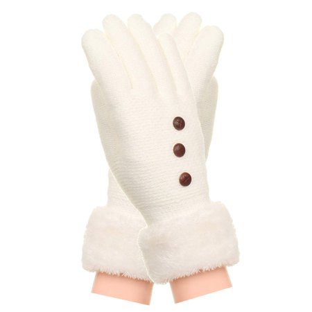 Gilbin Womens Soft And Warm Fuzzy Interior Fleece Lined Double Layer Winter Gloves (Fuzzy Hands Gloves)