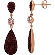 Luminesse 18kt Pink Gold over Sterling Silver Drop Earrings made with Swarovski Elements