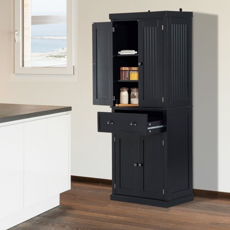 72inch Wood Kitchen Pantry Cabinet Tall Storage Cupboard