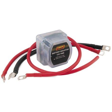 quadboss battery isolator with wiring kit dbk-atv-r12140b-t - walmart com