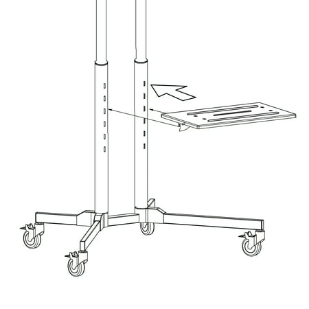 """onn. Rolling TV Stand for 32"""" to 70"""" TV's, up to 15° Tilting"""