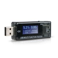 TSV LCD USB Voltmeter Tester Detector Ammeter Power Capacity Voltage Current Meter