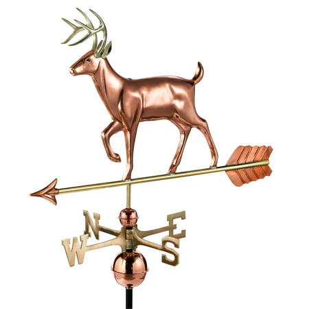 Good Directions White Tail Buck Weathervane, Pure Copper - 33