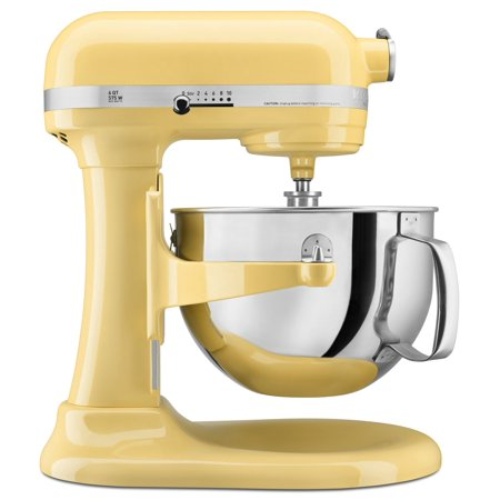 KitchenAid KP26M1XMY Pro 600 Series 6 Quart Bowl-Lift Stand Mixer, Majestic Yellow