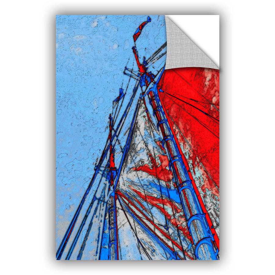 "ArtAppealz Linda Parker ""Red Sails At Sea"" Removable Wall Art"