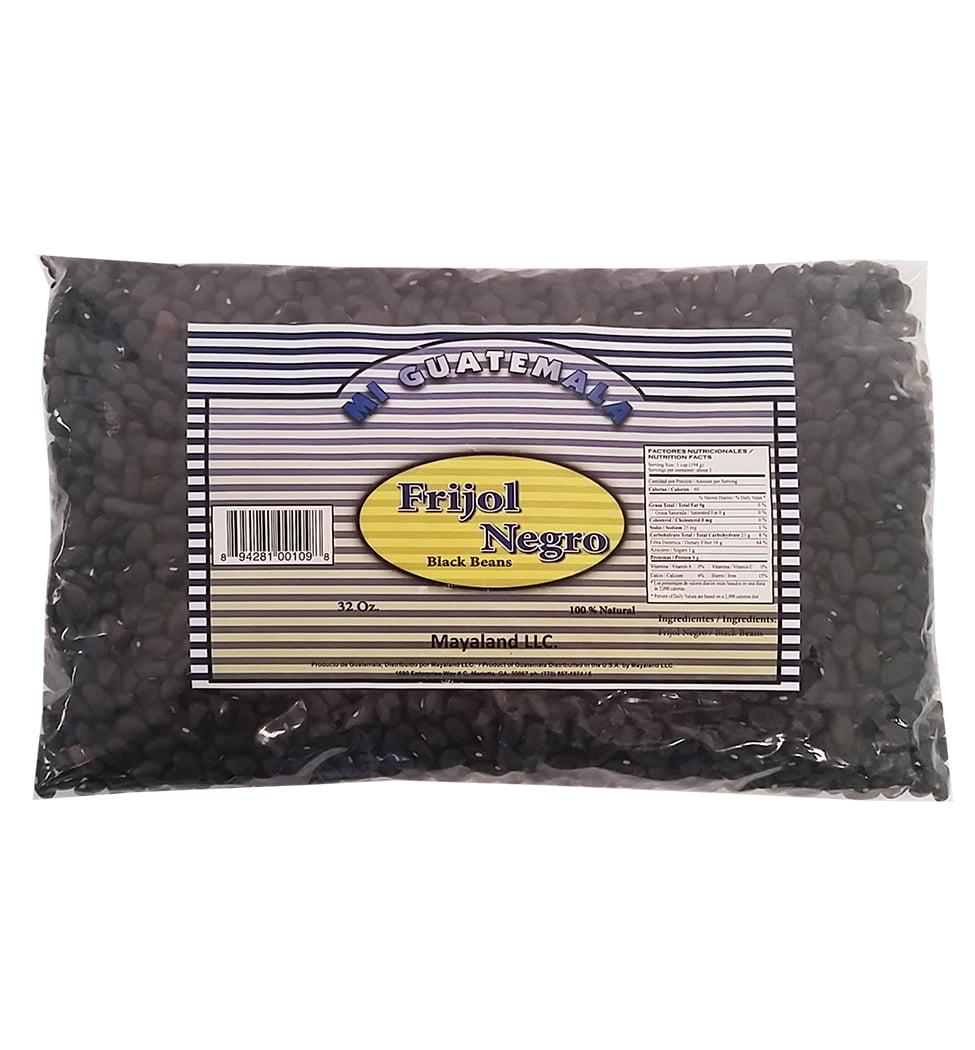 Mi Guatemala Dry Black Beans 32 oz - Frijoles Negros (Pack of 6)