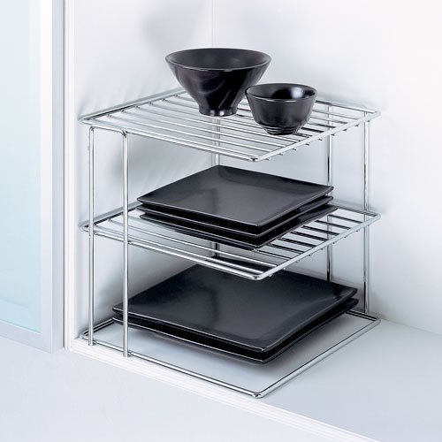 Kitchen Shelf Metal: Kitchen Metal Wire Chrome Corner Shelf