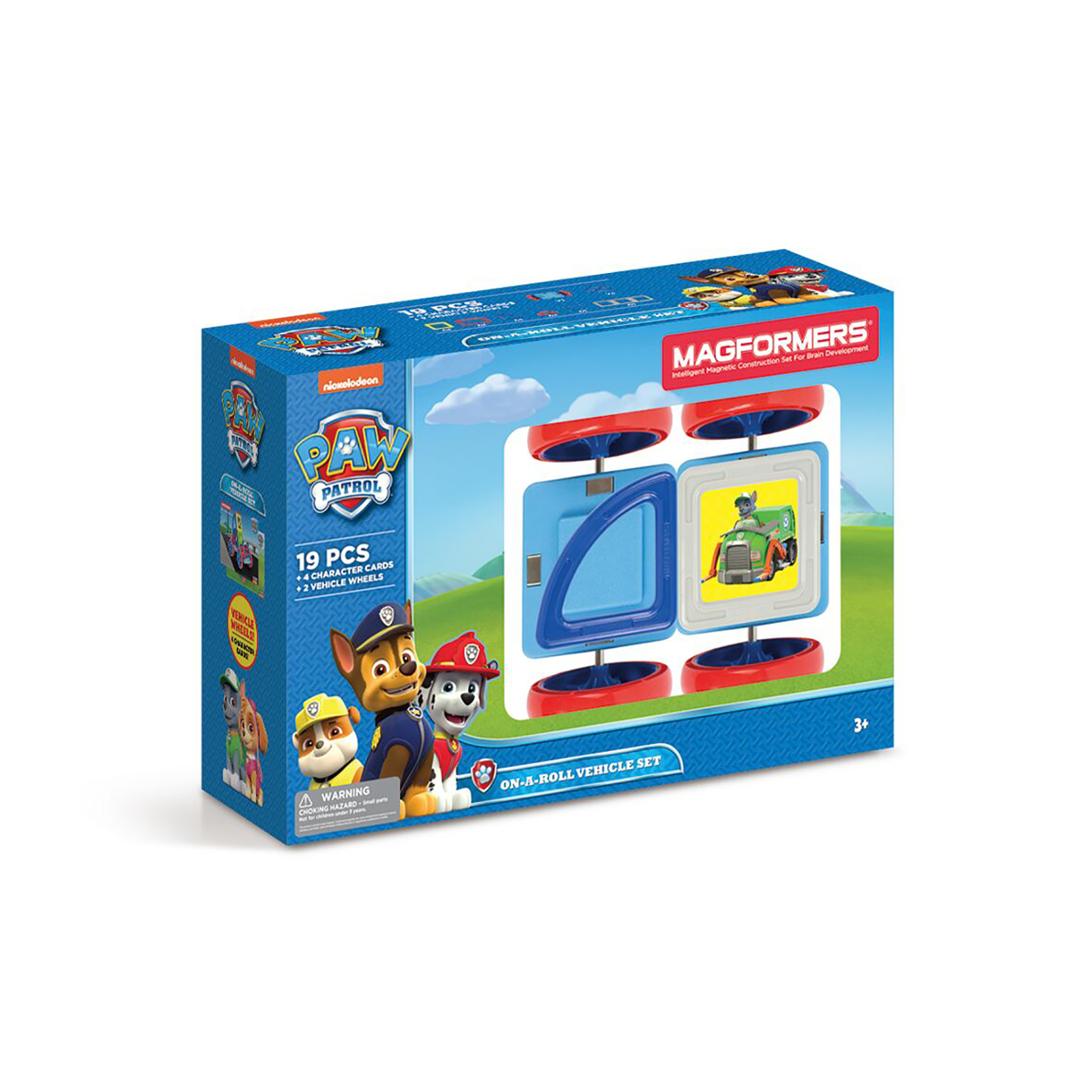 Magformers Paw Patrol 19 Piece On A Roll Vehicle Magnetic Construction Set