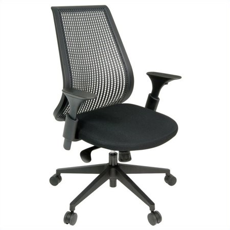 regency lizze swivel office chair in black