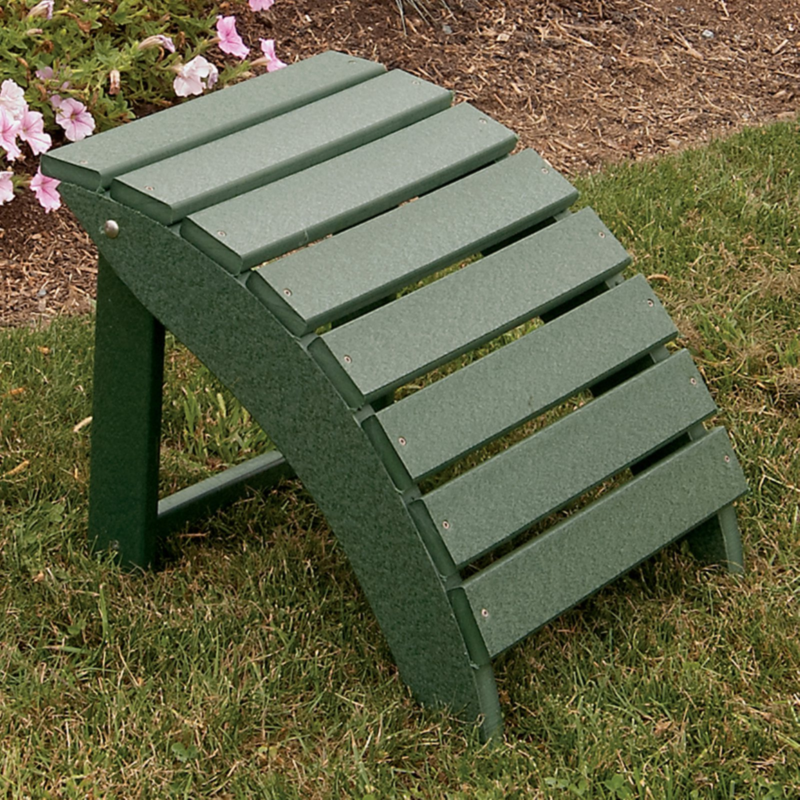 A & L Furniture Recycled Plastic Folding Ottoman