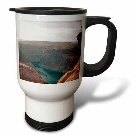 Horseshoe Bend Colorado River (3dRose Arizona, Colorado River. Horseshoe Bend - US03 LNO0007 - Luc Novovitch, Travel Mug, 14oz, Stainless)