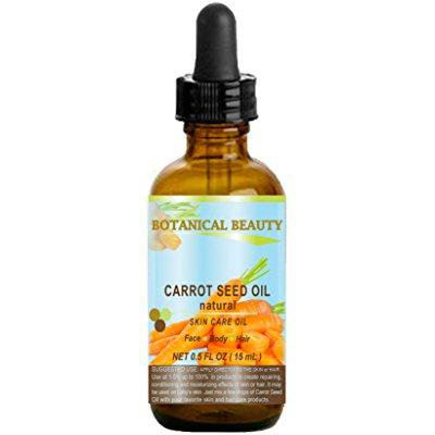 carrot seed oil 100 % natural cold pressed carrier oil. 0.5 fl.oz.- 15 ml. skin, body, hair and lip care. one of the best oils to rejuvenate and regenerate skin tissues. by botanical