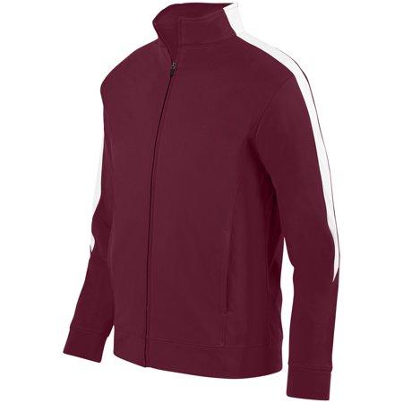 Augusta Sportswear M Mens Medalist Jacket 2 0 Maroon White