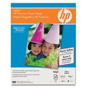 NEW Prem Photo Paper Glossy 15 sht (Paper), True-to-life color that resists fading longer than store-processed photos By HP Consumables - Paper Store Coupon