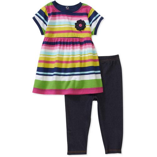 Child of Mine by Carters Newborn Girls' 2-Piece Stripe Tunic and Leggings Set
